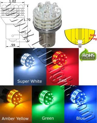 S25 36 Led Light 12 Vdc 9 Forward Firing Leds And 27 Side Firing Leds Durable Shock And Vibration Proof Instant On Off M Super White Blue Amber Led Lights