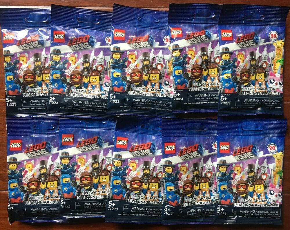 4 x Lego movie 2 minifigures series unopened sealed mystery blind bags new