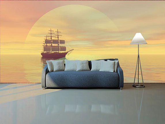 3D wallpaper designs for walls with LED and fluorescent highlighting ...