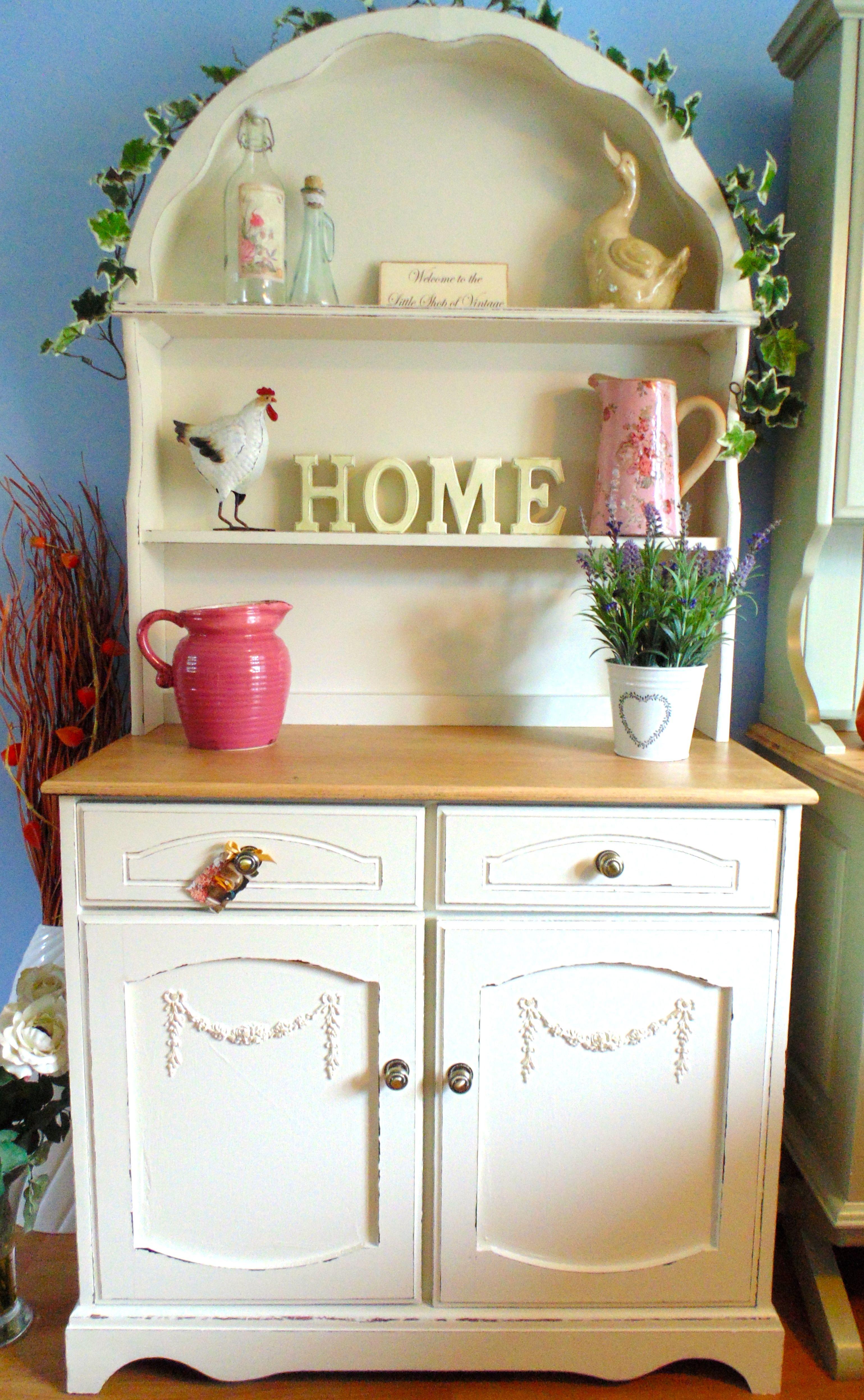 Pretty Dutch Dresser in Farrow Ball Clunch. | TWC Kitchens ...