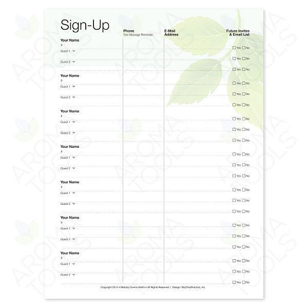 u0026quot sign up u0026quot  tear pad  50 sheets