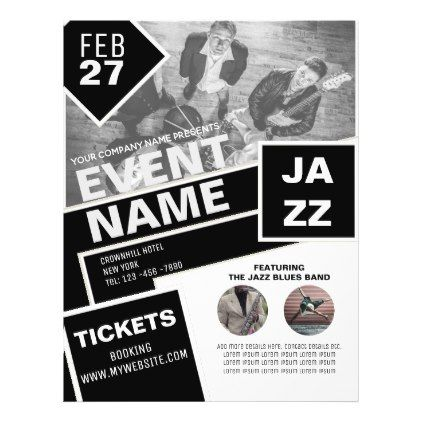 EVENT Flyer Template Entertainment Black White Event flyer templates - black and white flyer template