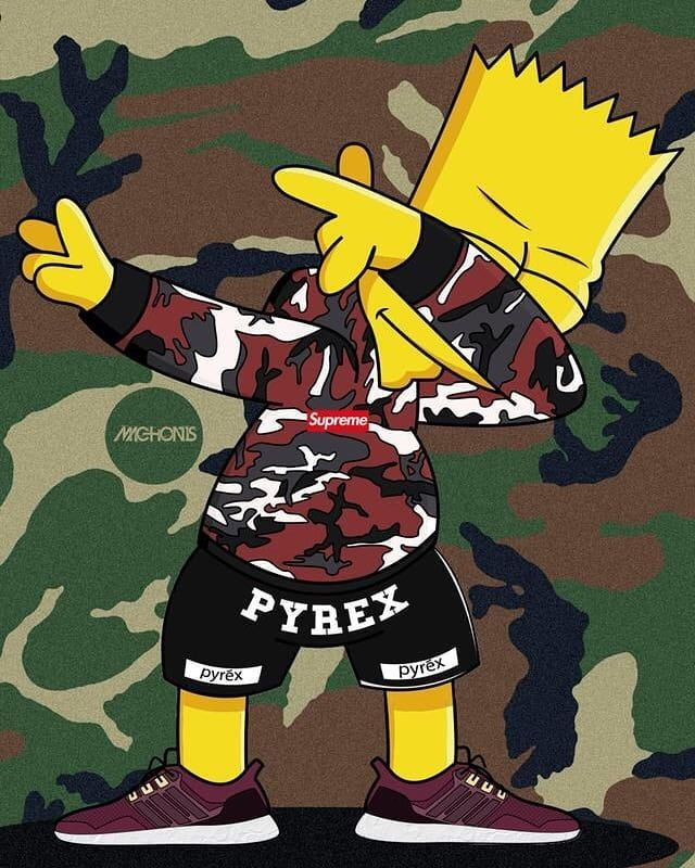 #Bart#Simpson#Dab#Supreme# in 2020 | Live wallpaper iphone ...