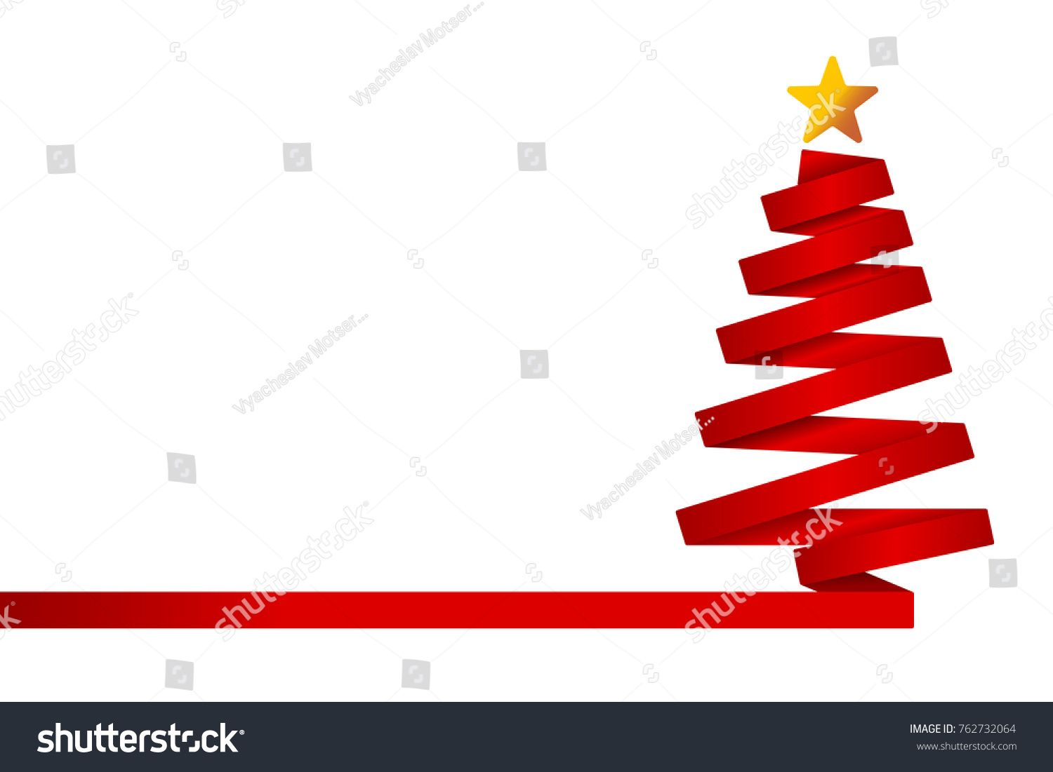 Red Christmas Tree Made From Ribbon Vector Illustration Tree Christmas Red Illustration Red Christmas Tree Red Christmas Christmas Tree