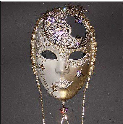 beautiful full face masks  shining beautiful full face