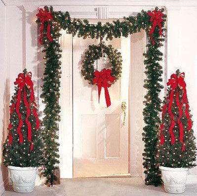 Decoracion De Entrada Decoracion Puertas Navidad Decoracion Exterior Navidad Decoracion Navidad