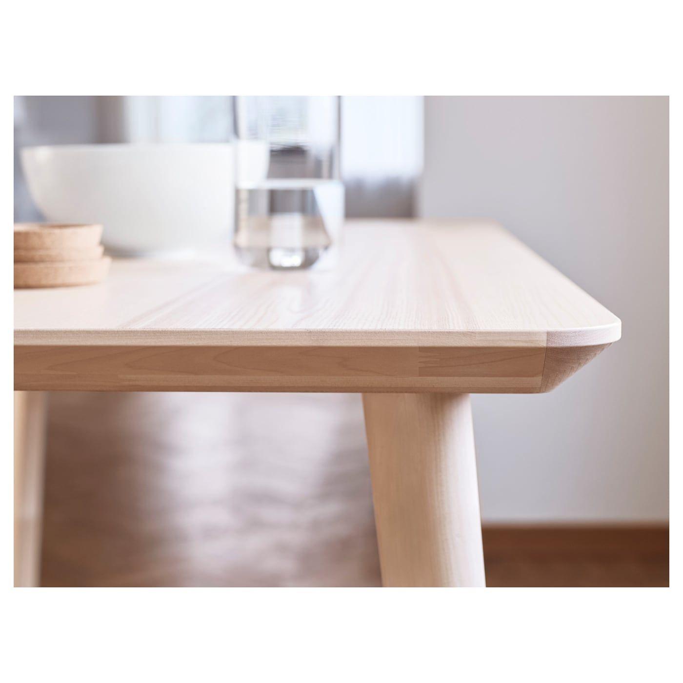"LISABO Coffee table ash veneer 46 1/2x19 5/8 "" (118x50"