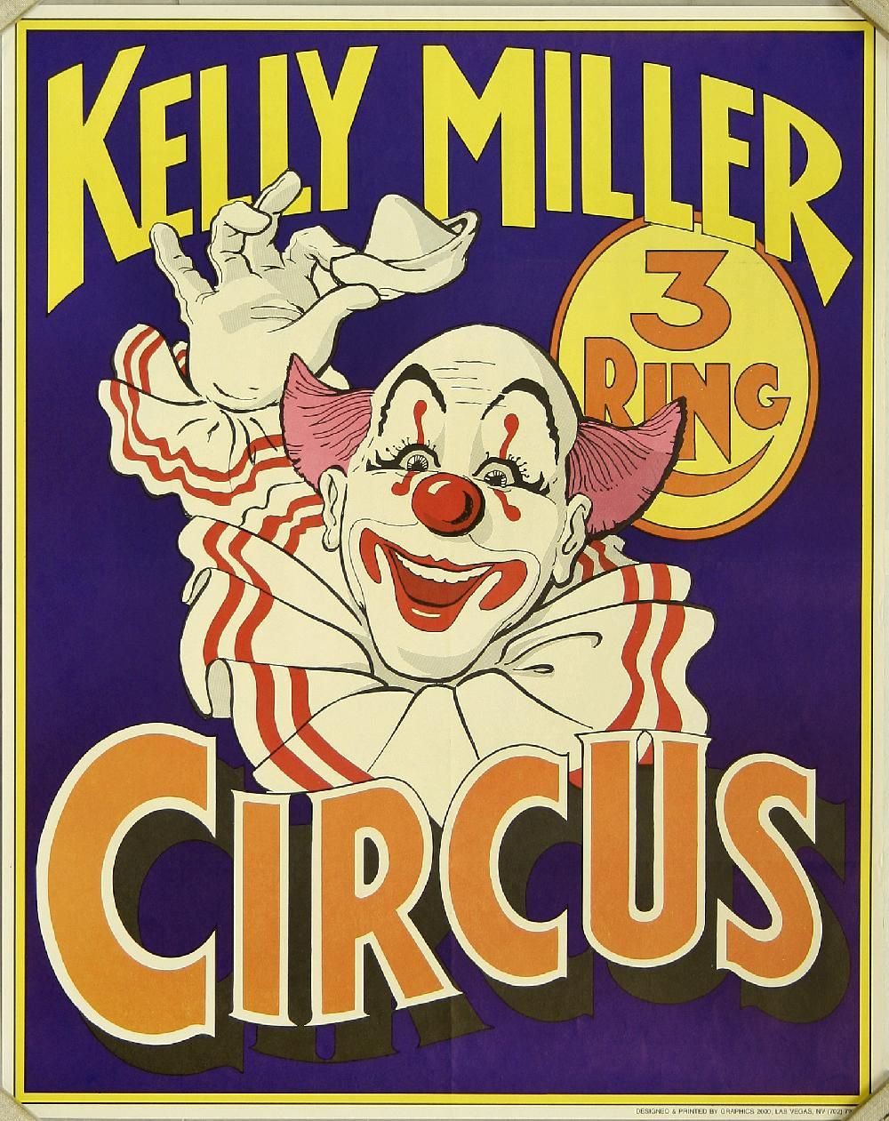 Kelly Miller 3 Ring Circus Clown Tipping Hat Vintage PostersCircus
