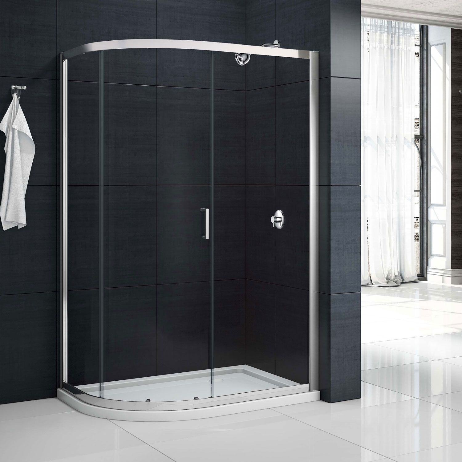 Merlyn Mbox Single Offset Quadrant Shower Enclosure 1000Mm X 800Mm