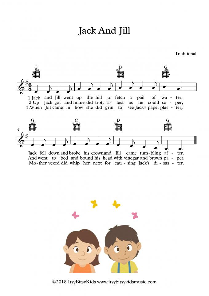 Jack And Jill Nursery Rhymes Songs