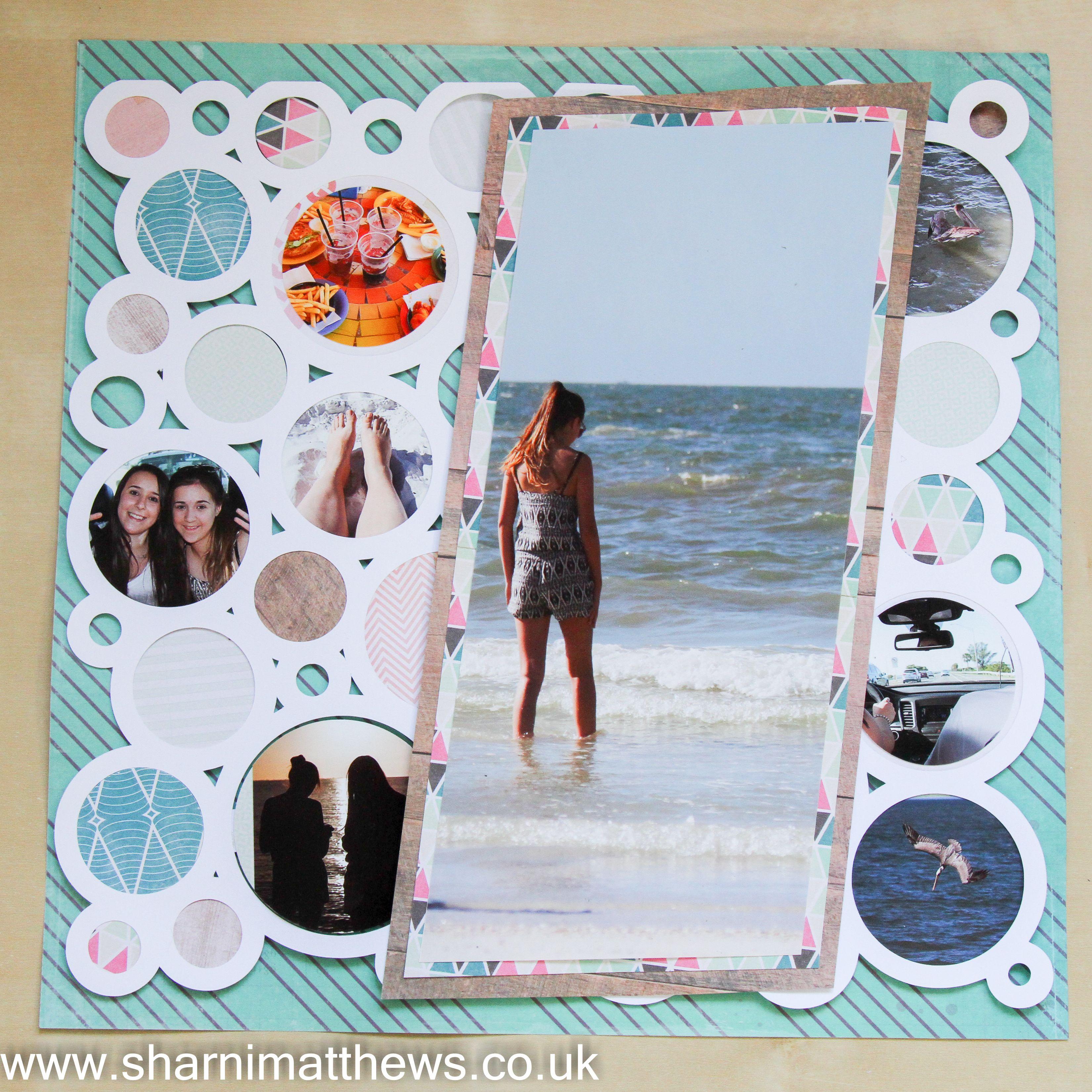 How to scrapbook uk - Scrapbook Layout Maggie Holmes Confetti Clear Water Www Sharnimatthews Co