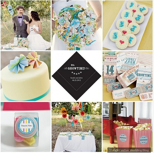 Retro Wedding... Turquoise, red and white❤