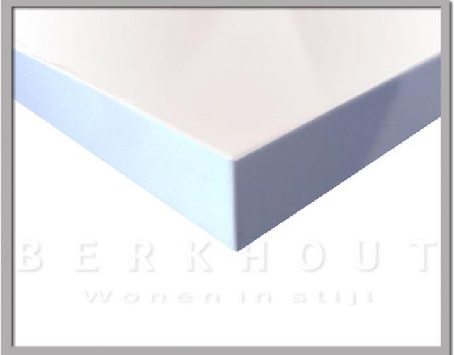 Wit Hoogglans Tafelblad.Handig Losse Tafelbladen In Hoogglans Wit Of Zwart