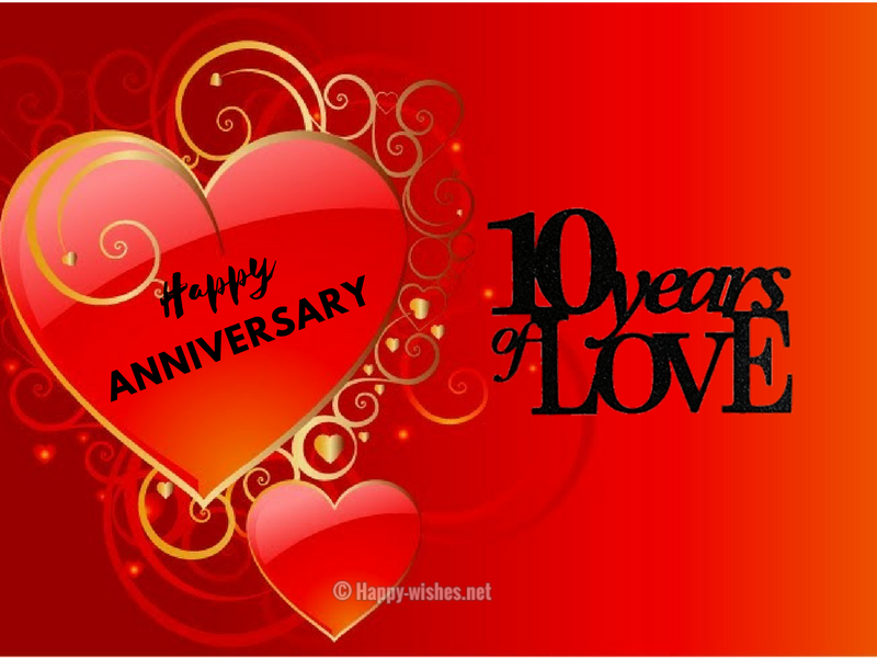 10th Wedding Anniversary Wishes Quotes Messages Happy 10 Year