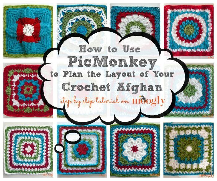 Lær at bruge PicMonkey til at planlægge din Moogly afghanske Hækl-a-Long layout!