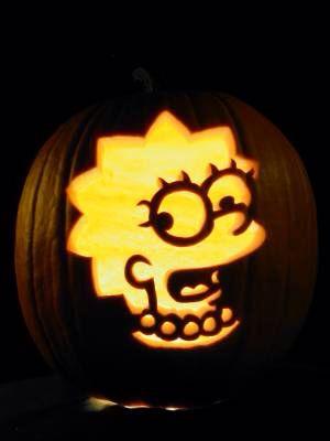 lisa simpson pumpkin carving halloween pumpkin carving pumpkin rh pinterest com