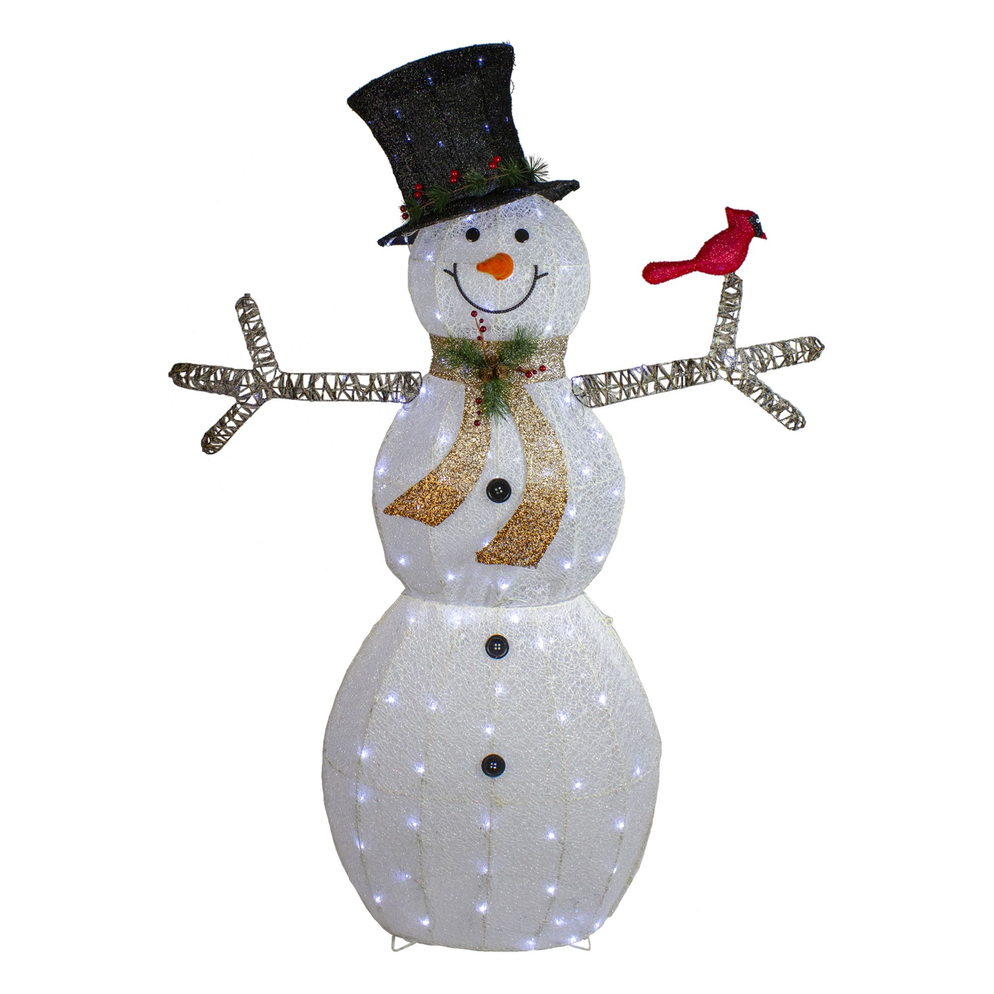 72 Led Lighted Snowman With Black Top Hat Christmas Outdoor Decoration 33380934 Outdoor Christmas Decorations Outdoor Christmas Outdoor Christmas Decorations Lights