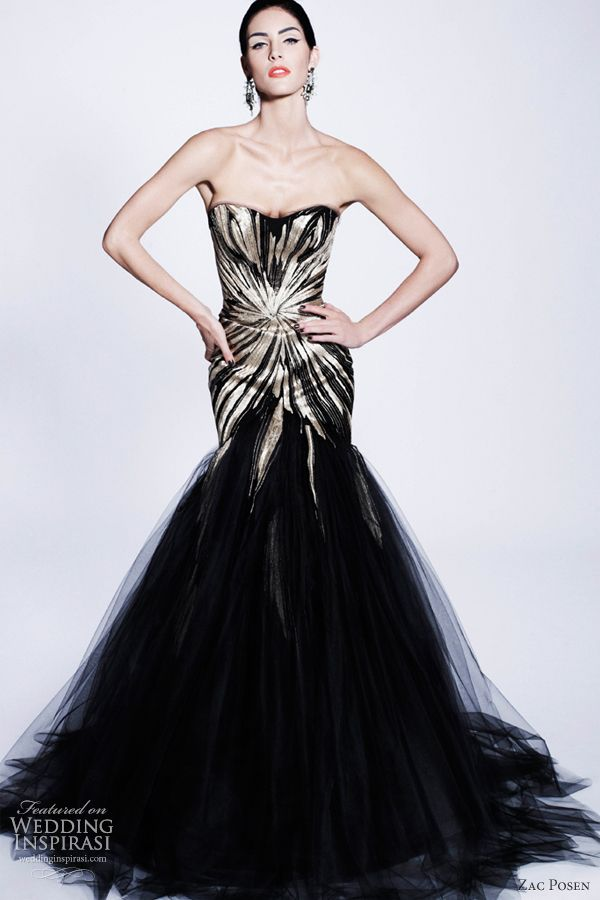 Zac Posen- Black Wedding Dress