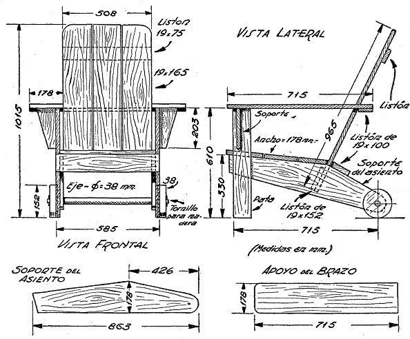 Como hacer un sillon con ruedas para el jard n 2 patio y for Ideas para hacer un jardin