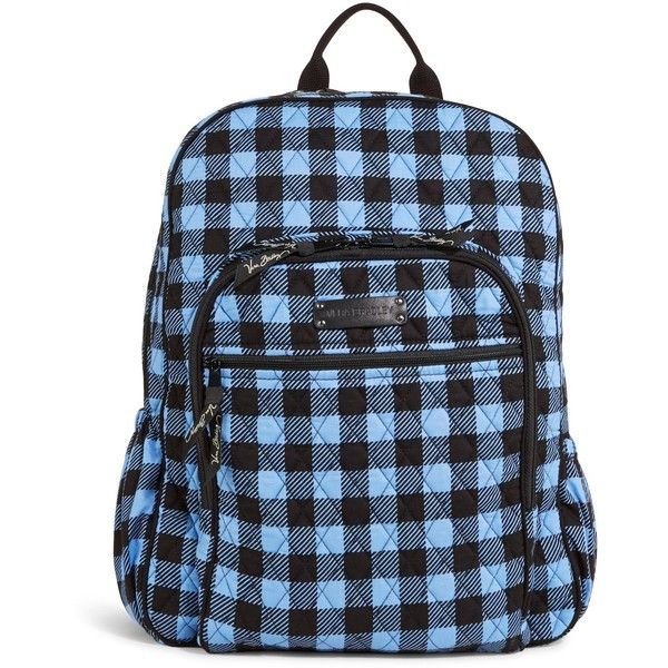 Vera Bradley Campus Backpack in Alpine Check ( 109) ❤ liked on Polyvore  featuring bags 93ef12f7fe