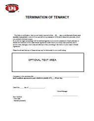 Termination Of Tenancy Notice  Eviction Notice At Essential