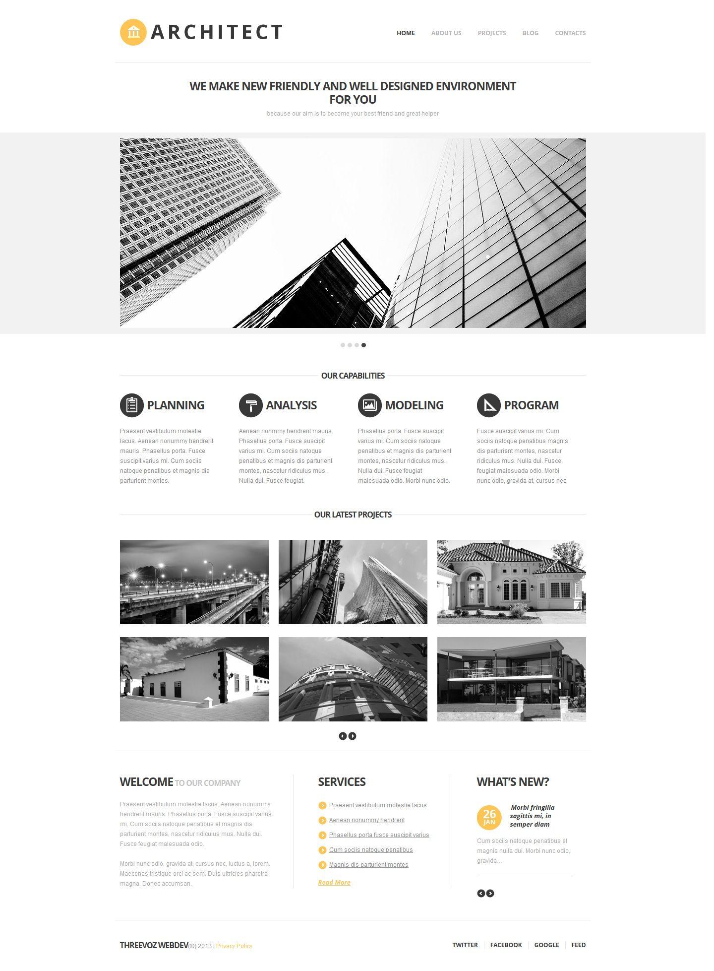 Company Profile Website Template Website Company Profile Template Architect Building Wellness Design Company Profile Design Website Inspiration