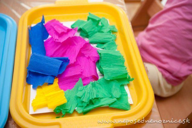 Maľovanie krepovým papierom