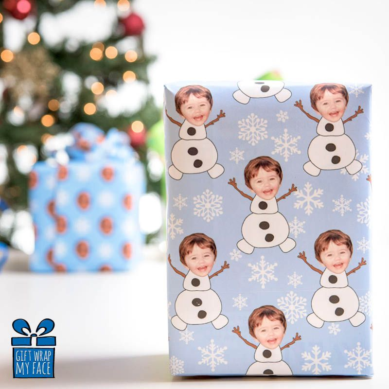 Olaf wrapping paper, custom gift wrapping, unique gift wrapping, kids gift wrapping