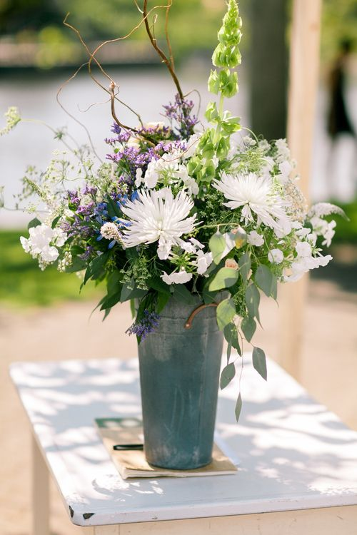 Galvanized Vases Vases Pinterest Weddings