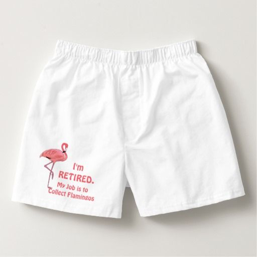 Funny Lawn Flamingo Retirement Boxers
