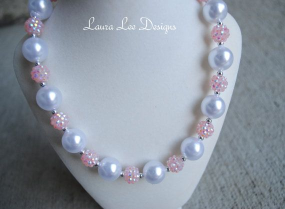 The Pearl Collection White Pearl and Sparkly by LauraLeeDesigns108, $17.99