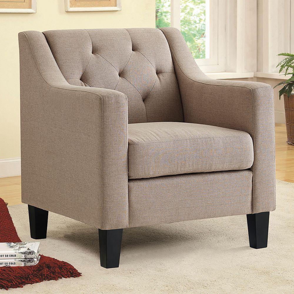 Khaki Accent Chair Near Me: Linon Tufted Accent Arm Chair, Beig/Green (Beig/Khaki