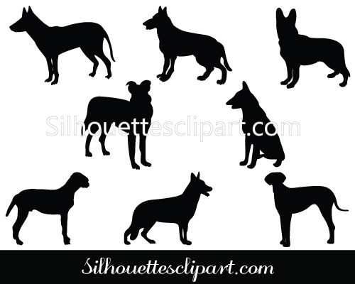 german shepherd silhouette download free art pinterest german