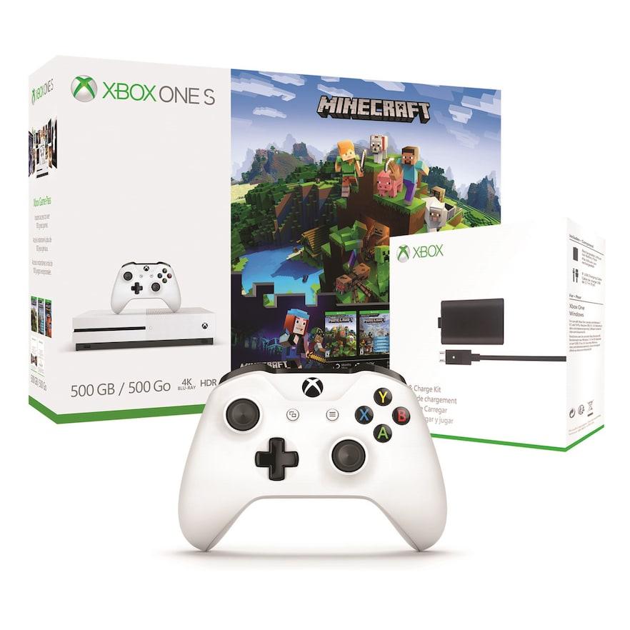 Xbox One S 500GB Minecraft Adventure Bundle with Xbox One S