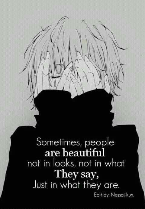 frases impactantes anime: Yea And Those People Say Those People Are Ugly Pftt