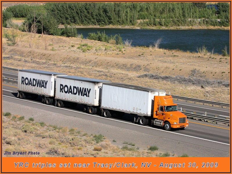 Triples | Roadway / Yellow / YRC Freight | Road train, Mack