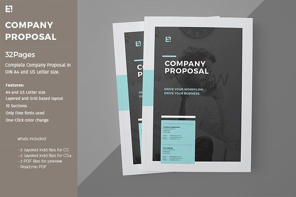 Company Brochure Pack By Egotype On Creativemarket 9000 Brochure