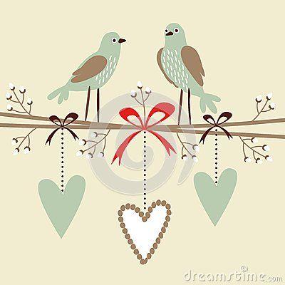 Valentim, Casamento, Cartão De Aniversário Ou Convite Com ...