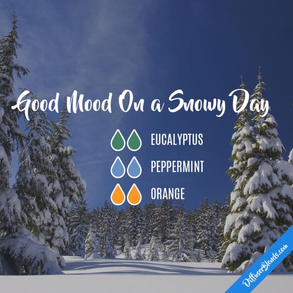 Good Mood On a Snowy Day - Essential Oil Diffuser Blend #winterdiffuserblends