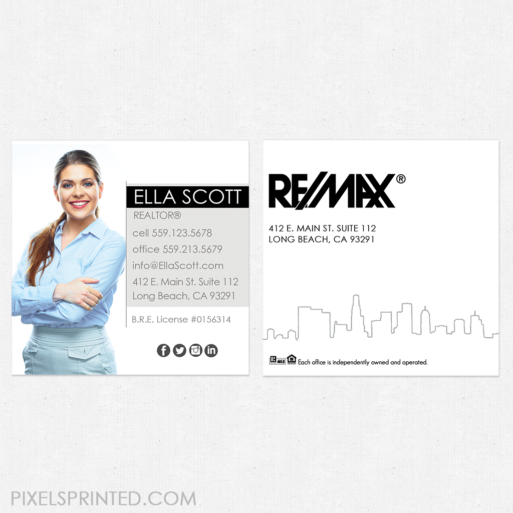 Remax business cards, realtor business cards, real estate agent ...