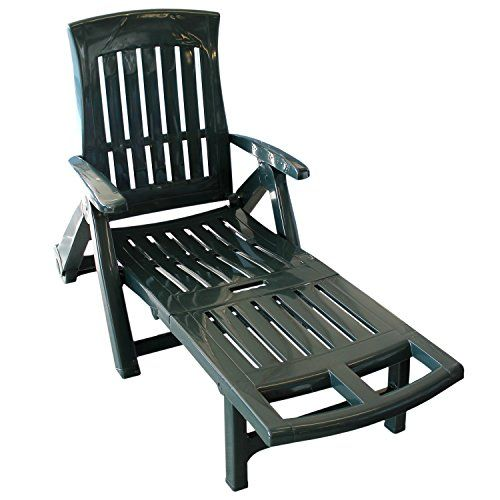 Cool Rollbare Gartenliege Rollliege Sonnenliege Klappstuhl Liegestuhl Relaxliege Gartenstuhl klappbar Positionen Kunststoff Gartenm bel Gr n Multistore
