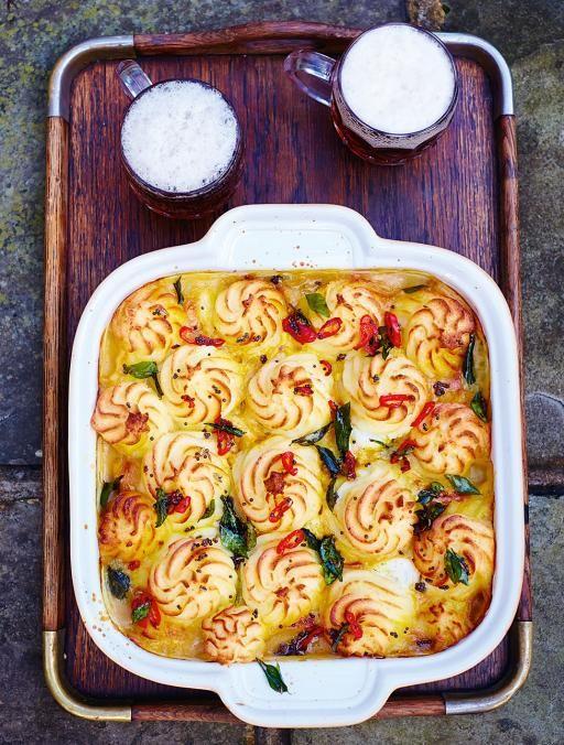 Jamie oliver curried fish pie with potatoe crust use sweet potatoe jamies comfort food recipes jamie oliver forumfinder Images