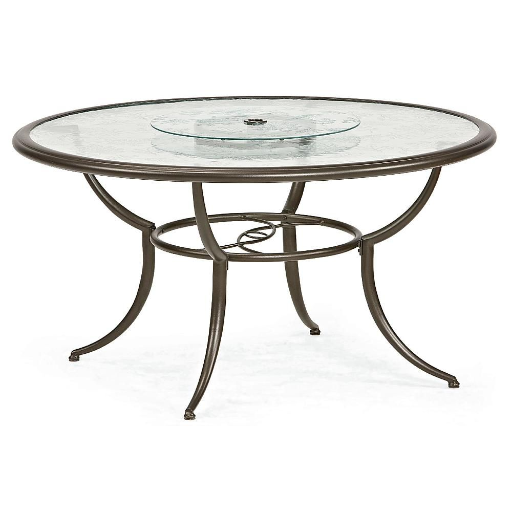 Jaclyn Smith Cora Dining Table With Lazy Susan Outdoor Living