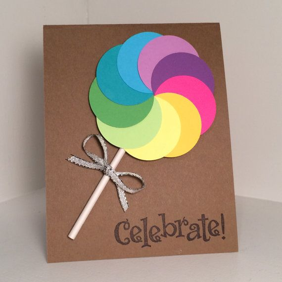 rainbow lollipop birthday card pinterest lutscher. Black Bedroom Furniture Sets. Home Design Ideas