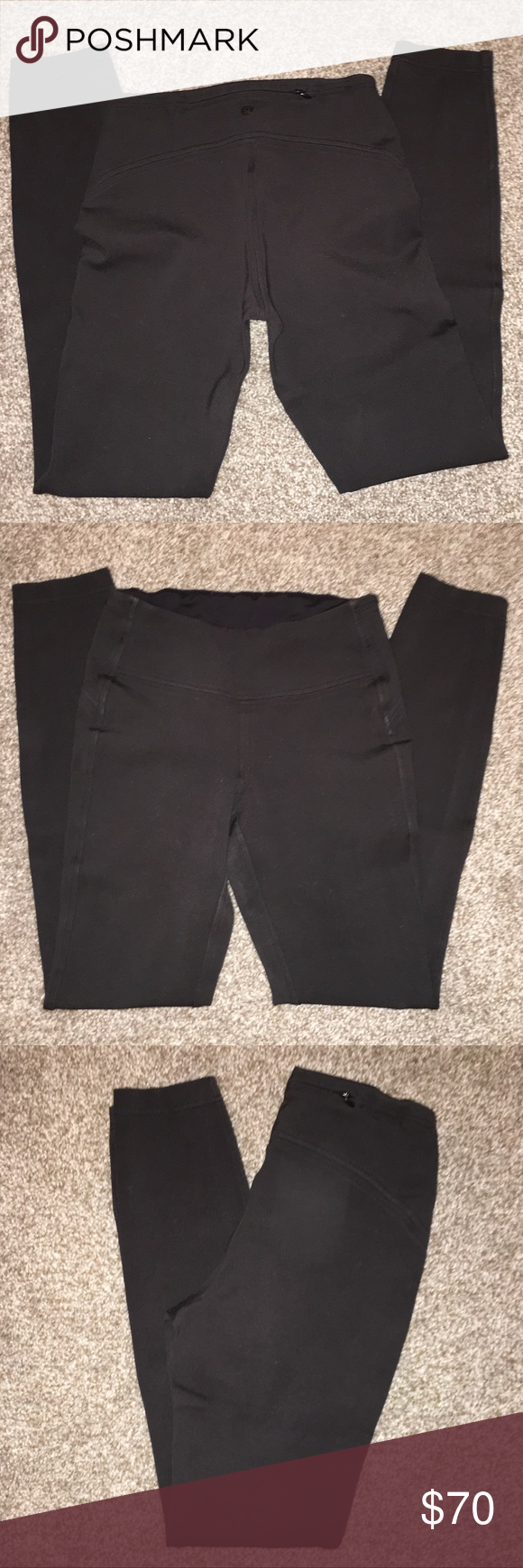 Women's Lululemon Black Pants In good used condition. Size: 4. These pants are great for a hike, a workout, or even to dress them up with heels. Zipper pocket on back. No piling. Some de-stitching on back on waist line. Not noticeable at all especially with covering of a shirt. Rare style. No longer available in stores or online.  ❗️ALWAYS OPEN TO REASONABLE OFFERS❗️  🎀BUNDLE FOR ADDITIONAL SAVINGS🎀 lululemon athletica Pants
