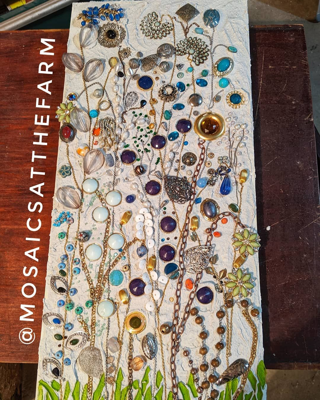 I made another jewelry garden for my bathroom. I used the ...
