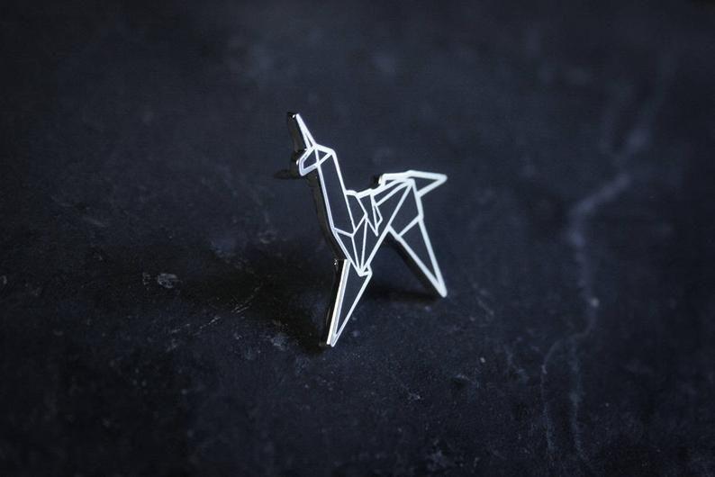 Blade Runner Origami Unicorn Pin: Unicorn Origami, Bladerunner Fan-art - PIN