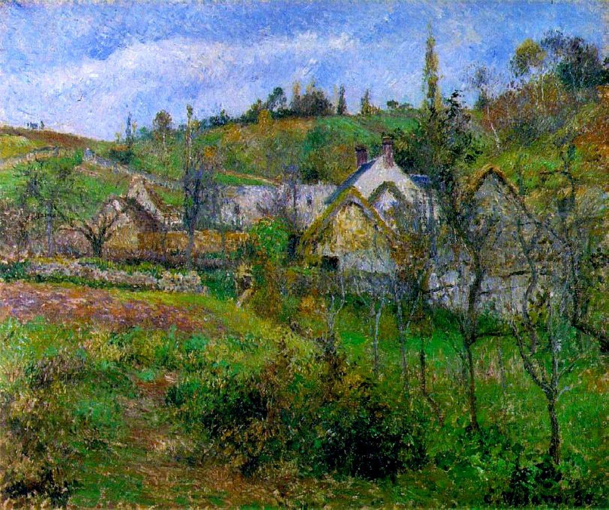 Camille Pissarro (French, Impressionism, 1830-1903): Le Valhermeil, near Pontoise; 1880. Oil on canvas. Private Collection.