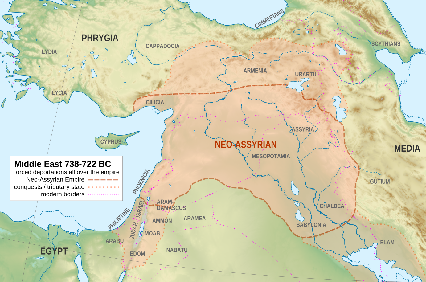 Neo-Assyrian Empire in 738-722BCE