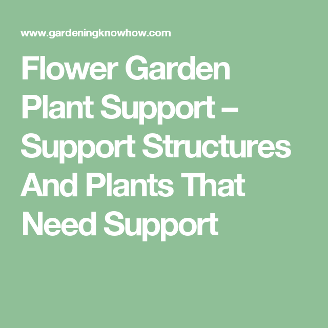 Flower Garden Plant Support U2013 Support Structures And Plants That Need  Support